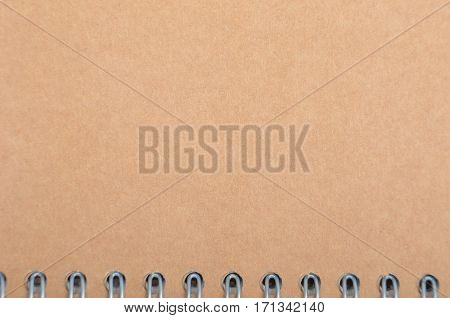 Blank from cardboard cover of notepad with binder