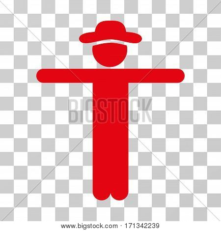Gentleman Scarescrow icon. Vector illustration style is flat iconic symbol red color transparent background. Designed for web and software interfaces.