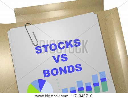 Stocks Vs Bonds Concept