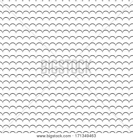 Geometric Line Monochrome Abstract Seamless Pattern With Waves