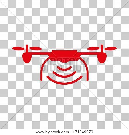 Radio Transmitter Airdrone icon. Vector illustration style is flat iconic symbol red color transparent background. Designed for web and software interfaces.