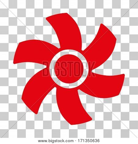 Rotor icon. Vector illustration style is flat iconic symbol red color transparent background. Designed for web and software interfaces.