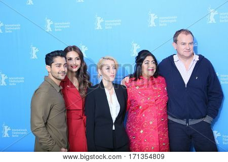 Huma Qureshi, Manish Daya, Gillian Anderson attend the 'Viceroy's House' photo call during the 67th Berlinale  Film Festival Berlin at Grand Hyatt Hotel on February 12, 2017 in Berlin, Germany.