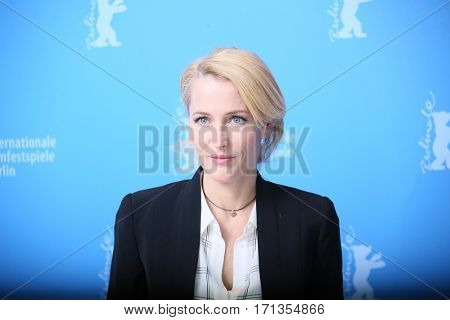 Gillian Anderson attends the 'Viceroy's House' photo call during the 67th Berlinale International Film Festival Berlin at Grand Hyatt Hotel on February 12, 2017 in Berlin, Germany.