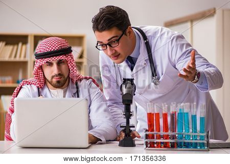 Diversity concept with doctors in hospital