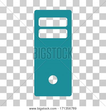 Computer Mainframe icon. Vector illustration style is flat iconic symbol soft blue color transparent background. Designed for web and software interfaces.