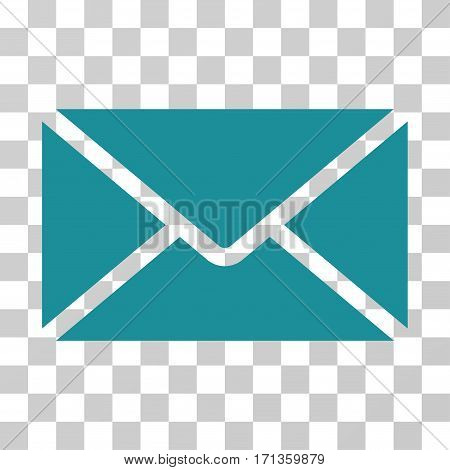 Mail Envelope icon. Vector illustration style is flat iconic symbol soft blue color transparent background. Designed for web and software interfaces.