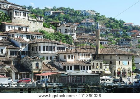 The Old Houses Of Berat On Albania
