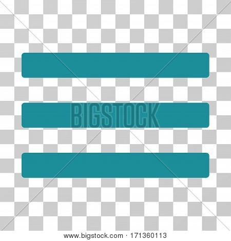 Menu icon. Vector illustration style is flat iconic symbol soft blue color transparent background. Designed for web and software interfaces.