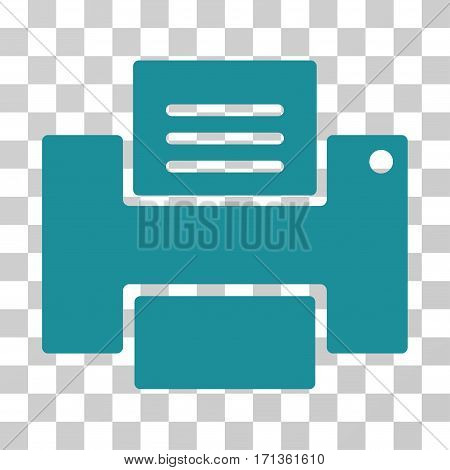 Printer icon. Vector illustration style is flat iconic symbol soft blue color transparent background. Designed for web and software interfaces.