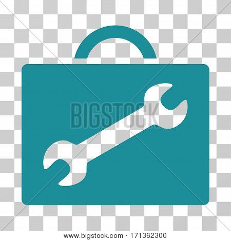 Repair Equipment Case icon. Vector illustration style is flat iconic symbol soft blue color transparent background. Designed for web and software interfaces.