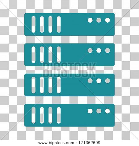 Server icon. Vector illustration style is flat iconic symbol soft blue color transparent background. Designed for web and software interfaces.