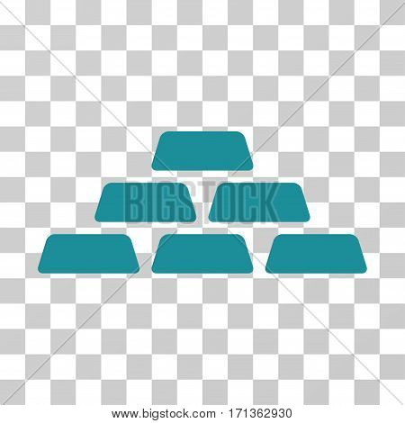 Treasure Bricks icon. Vector illustration style is flat iconic symbol soft blue color transparent background. Designed for web and software interfaces.