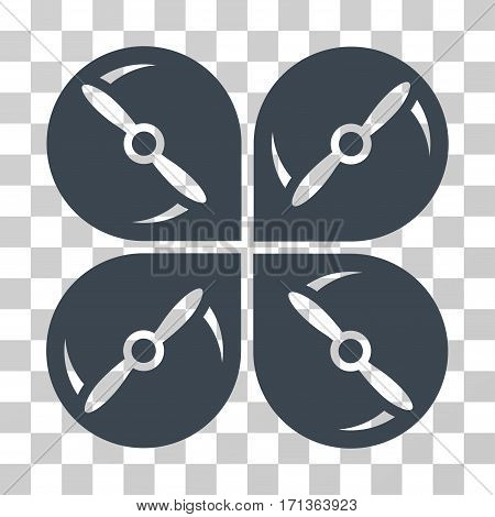 Airdrone Screws Rotation icon. Vector illustration style is flat iconic symbol smooth blue color transparent background. Designed for web and software interfaces. poster