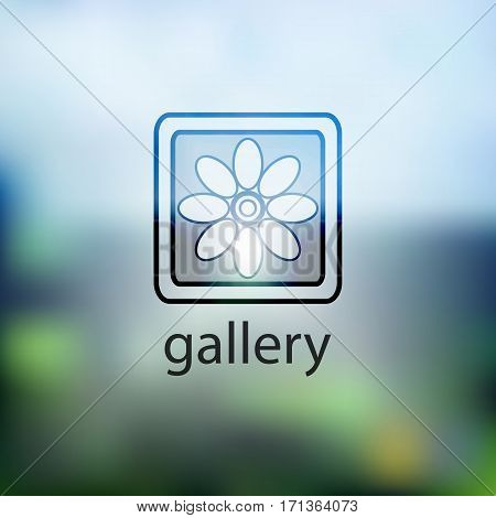 Icon Gallery. Isolated On Background Blurred