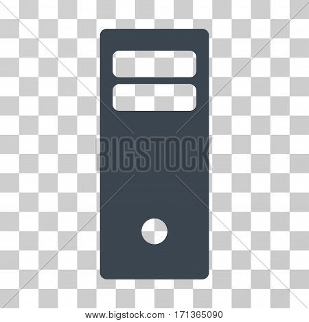 Computer Mainframe icon. Vector illustration style is flat iconic symbol smooth blue color transparent background. Designed for web and software interfaces.