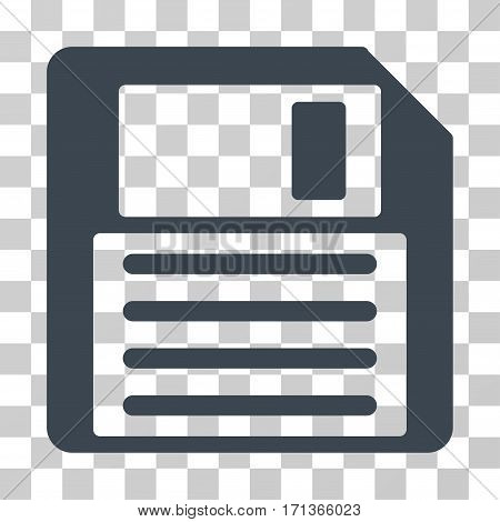Floppy icon. Vector illustration style is flat iconic symbol smooth blue color transparent background. Designed for web and software interfaces.