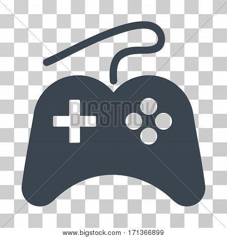 Gamepad icon. Vector illustration style is flat iconic symbol smooth blue color transparent background. Designed for web and software interfaces.