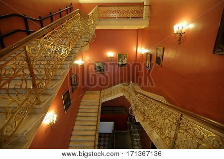 Staircase At The State Historical Museum, Moscow, Russia