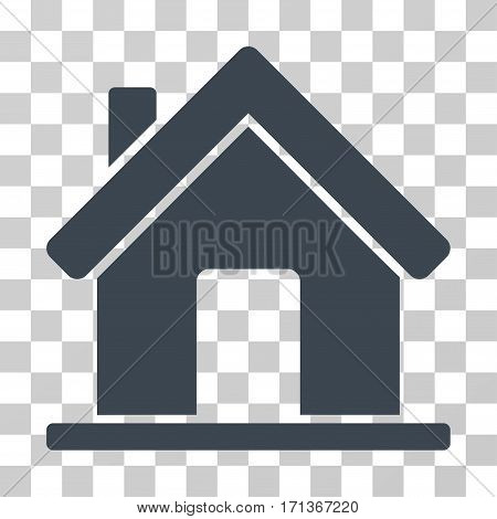Home icon. Vector illustration style is flat iconic symbol smooth blue color transparent background. Designed for web and software interfaces.
