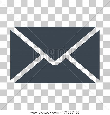 Mail Envelope icon. Vector illustration style is flat iconic symbol smooth blue color transparent background. Designed for web and software interfaces.
