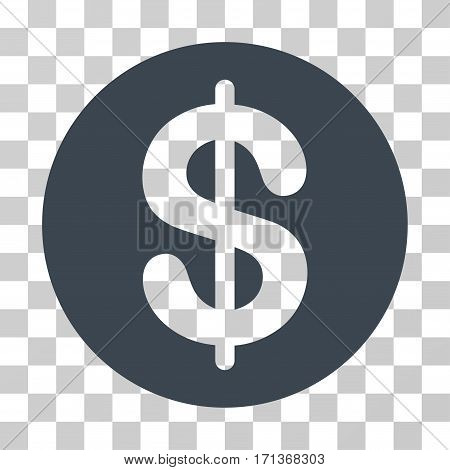 Money icon. Vector illustration style is flat iconic symbol smooth blue color transparent background. Designed for web and software interfaces.