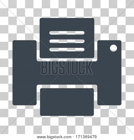 Printer icon. Vector illustration style is flat iconic symbol smooth blue color transparent background. Designed for web and software interfaces.