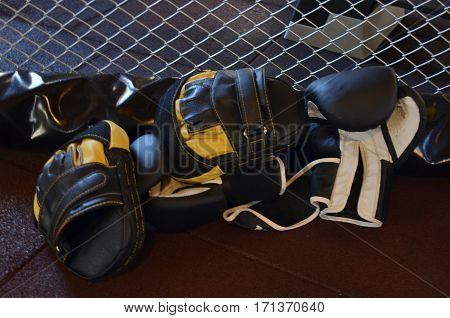 boxing gloves and training gloves in gym antalya turkey