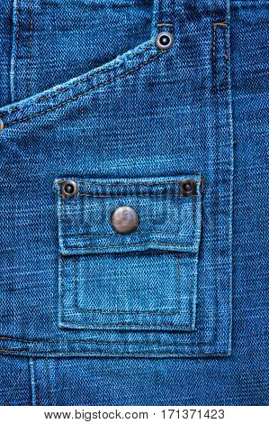 denim texture with rivets for background and place for text.