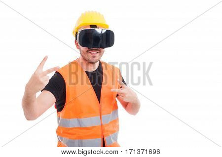 Handsome Engineer Enjoying Simulation Of Reality