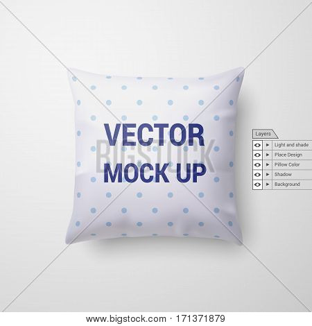 Mock Up Pillow Isolated on White Background for Design