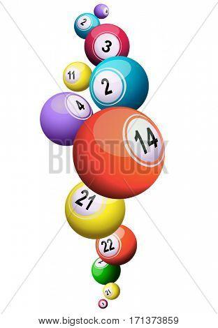 lotto or bingo balls