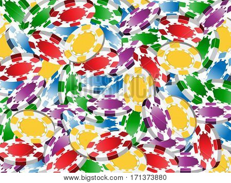 pile of casino chips as background