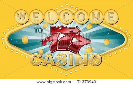 Welcome to casino with slots symbols and golden coins