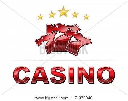 Casino logo with slot machine symbol