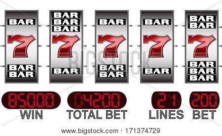 Lucky seven slot machine big win
