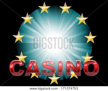 Casino background for logo