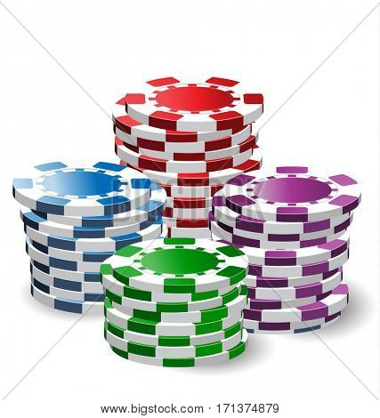 Pile of casino chips