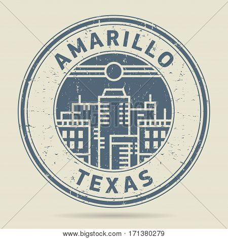 Grunge rubber stamp or label with text Amarillo Texas written inside vector illustration