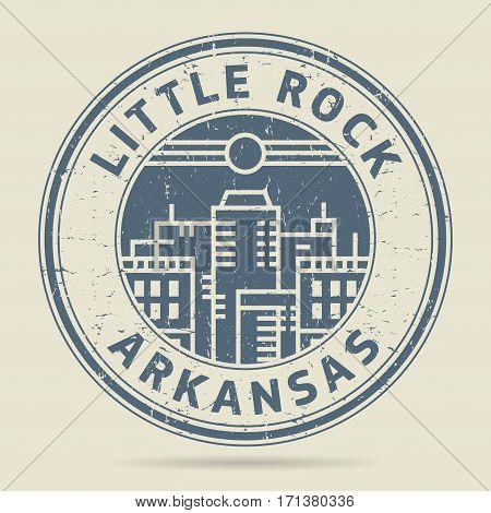 Grunge rubber stamp or label with text Little Rock Arkansas written inside vector illustration