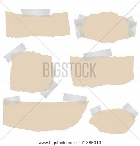 Scraps Of Paper With Tape