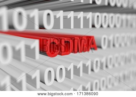 cdma is presented in the form of a binary code with blurred background 3d illustration