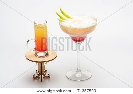 Cocktails: Sex On The Beach And Margarita On Decorative Table