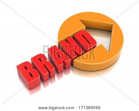 3D Illustration. Sign brand. Image with clipping path