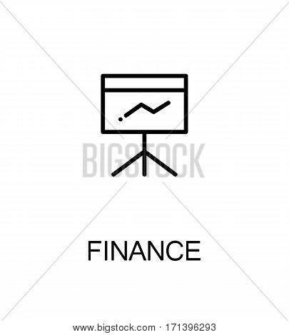 Finance icon. Single high quality outline symbol for web design or mobile app. Thin line sign for design logo. Black outline pictogram on white background