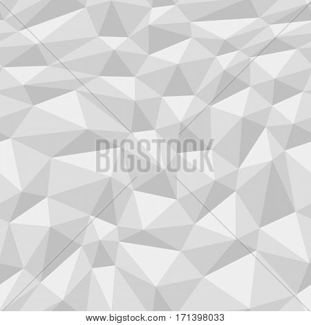 Poly Triangulated Background Black And White