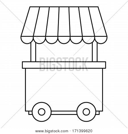 Fast food trolley wheel icon. Outline illustration of fast food trolley wheel vector icon for web