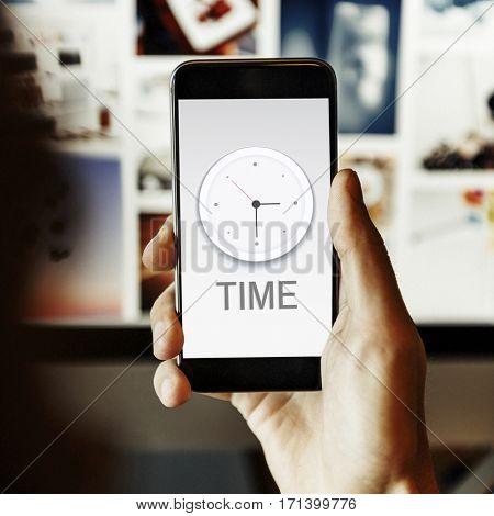 Time Clock Management Concept