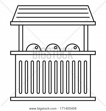 Street food kiosk icon. Outline illustration of street food kiosk vector icon for web