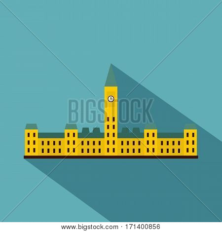 Parliament Hill, Ottawa icon. Flat illustration of Parliament Hill, Ottawa vector icon for web isolated on baby blue background